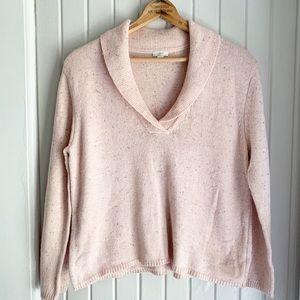 J. Jill Pink Shawl Collar Sweater